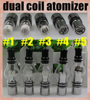 Wholesale Coil For Dome Atomizer - Dual Coil Globe Atomizer Glass Tank Dome Wax For Vaporizer Dry Herb Double Ceramic Titanium Wick 2015 Top Fashion Direct Selling ATB029