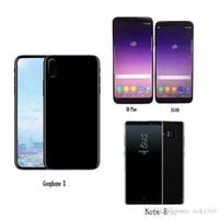 мобильные телефоны оптовых-Бесплатный DHL Goophone S8 plus Примечание 8 S7 edge X i8 plus android четырехъядерный смартфон mobile show Octa 64GB 4G LTE разблокировать сотовые телефоны запечатанная коробка
