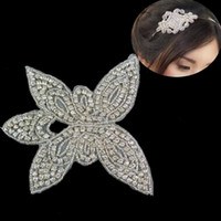 Wholesale Diamante Bridal Sashes - 2016 NEW! (50pieces lot)Wholesale hotfix diamante rhinestone applique patch for wedding sash,bridal dress waist