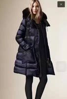 Wholesale Brand Coat Skirt - B Brand Winter Collection Winter Women Down Coat X-Long Down Parka 100% Real Raccoon Fur Coat for Women in European Style