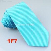 Wholesale Turquoise S Dress - Wholesale-Kai Cheng Ties-7cm Men`s Formal Necktie Turquoise Silver Stripes Microfiber Tie Men Accessories Luxury TIE Dress Shirts NECKTIE