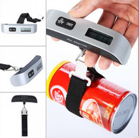 Wholesale Luggage Scale Wholesale - New Arrive Portable LCD Display Electronic Hanging Digital Lage Weighting Scale 50kg*10g 50kg  110lb Weight Scales