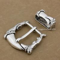 fivelas de cinto de dragão de prata venda por atacado-LINSION Enorme Pesado 925 Sterling Silver Dragão Garra Mens Biker Punk Belt Buckle 9C009