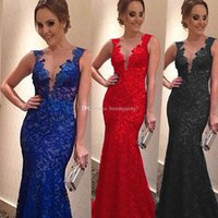 Cheap Model Pictures Fashion Evening party Dresses Best A-Line V-Neck Women Lace V Neck Backless Sexy Dress