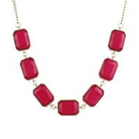 Wholesale Cheap Dangling Necklace - Min Order $5 New Whole Cheap Hotpink Fashionable Gold Plated Alloy Cute Necklace For Girl