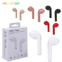 Wholesale Best Universal Bluetooth Headset - 2018 best original HBQ i7 Tws True Wireless Earbuds Mini Bluetooth V4.2 DER Stereo Sports earphone For iPhone X 8 Note8 for all smartph