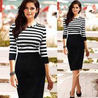 Wholesale casual corsets - new 2015 spring summer fashion female stripe patchwork corset casual pencil dress slim OL work women dress