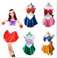 cosplay kostüme seemann mond großhandel-Role Play Suit Halloween Kostüme Kostüme Maskottchen Cosplay Sailor Moon Kostüm Cosplay Halloween Kostüm Up Sailormoon Outfit Handschuhe Neu