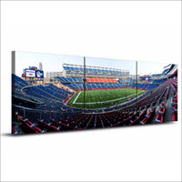 Wholesale One Piece Canvas Oil Paintings - Gillette Stadium ,3 Pieces Home Decor HD Printed Modern Art Painting on Canvas  Unframed Framed