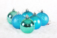 Wholesale Matte Silver Christmas Ball Ornament - 6cm light matte pink and blue and silver Christmas balls matte frosted ball ball decorated ceiling