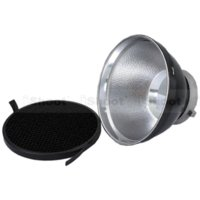 Wholesale Grid For Softbox - iShoot 18cm Metal Lame Shade Reflector Softbox Diffuser + Honeycomb Grid for Bowens Mount Studio Strobe Flash
