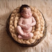 Wholesale Photo Prop Rug - Newborn Baby Soft Photography Photo Prop Infant Backdrop Braided Child Blanket Rug High Quality