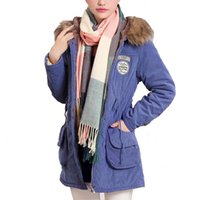 Wholesale Womens Fur Lined Winter Coats - Wholesale-New Winter Womens Lady Casual Faux Fur Fleece Lined Jacket Military Parka Coat Anorak Overcoat 53540