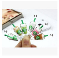Wholesale Starbucks Earphone Jack Dust - Cell Phones Plug Starbucks 3.5 MM Universal Dust Plug Earphone Jack Plug Headset Stopper Cap For all cell phone Dhgate plug