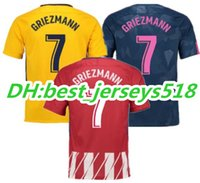 Wholesale F 18 - Top Thai quality 17 18 Atletico Madrid soccer jersey F TORRES KOKE GABI GRIEZMANN jerseys 2017 2018 CARRASCO SAUL Third Football shirts