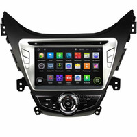 "Wholesale Touch Dvd Elantra - Quad-Core 1024*600 Android 4.4 HD 2 din 8"" Car Radio Car DVD GPS for Hyundai Elantra  Avante  I35 2011-2013 With 3G WIFI BT IPOD TV USB AUX"