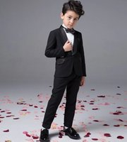 Wholesale Baby Boy Summer Formal Suit - Fashion baby boy kids blazers suits prom party formal white clothing wedding casual spring summer costume flower children outfit