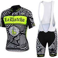 Wholesale Fluorescent Jerseys - Fluorescent color thinkoff pro cycling jersey bike Bib short SET MTB Ropa Ciclismo PRO cycling WEAR mens BICYCLING Maillot Culotte