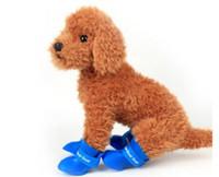 mascotas al aire libre zapatos para perros al por mayor-Venta al por mayor Candy Colors Shoes For Dog Pet Shoes PVC Pet Outdoor Rain Shoes Dog Rain Boots