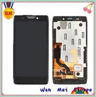 Wholesale Droid Razr Glass Screen - Wholesale-Black Glass Touch Digitizer Screen+LCD Display Digitizer Frame Assembly Replacement For Motorola Droid RAZR HD XT925 XT926