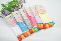 Wholesale Leg Massaging Socks - High Quality Colorful Yoga Socks 5 Toes Cotton Socks Exercise Sports Pilates Comfortable Foot Massage Sock for Women Free Shipping