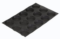 Wholesale Muffin Baking Pans - 4 -Inch Bun Baking Pan 15 Loaves Non -Stick Perforated Baking Mold Silicone Round Sandwich Bread Roll Muffin Pastry Pie Tart Tray