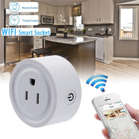 Wholesale Wireless Socket Control - Mini Smart Wifi Wireless Socket Plug Remote Control Power Strip Timing Switch for Smart Home Automation Electronic System