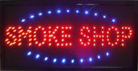 neon plastik großhandel-heißer verkauf angepasst led rauchgeschäft zeichen neon lichter Kunststoff PVC rahmen Anzeige halb im freien größe 48 cm * 25 cm