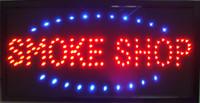 led personalizado venda por atacado-Venda quente personalizado levou loja de fumaça assina luzes de néon de Plástico PVC frame Display semi-ao ar livre tamanho 48 cm * 25 cm