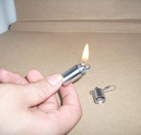 Wholesale Mini Oil Lighter - Free Shipping Super Mini Pill keychain Vintage Oil Lighter 100PCS Lot