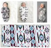 Wholesale Infant Bedding Boy - Newborn Baby Swaddle Boys Girls Sleeping Bag Infant White Wrap Hat 2Pcs Bed Accessories Sets Infant Sleeping Bag DHL Free Shipping