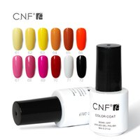 esmalte de uñas verde azul al por mayor-Venta al por mayor: CNF Nail Gel Roal Blue Emerald Green Princess Color amarillo puro para belleza Nail Art Soak Off Led Gel esmalte de uñas 6 ml