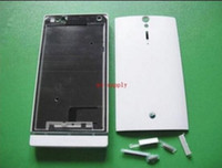Wholesale xperia battery cover for sale – best New Full Good Housing Front Frame Chassis Back Battery Cover Case Keypad for Sony Ericsson Xperia S LT26i LT26