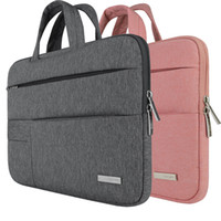 Wholesale laptop sleeve macbook pro - Portable Notebook Handbag Air Pro 11 12 13 14 15.6 Laptop Bag Sleeve Case For Dell HP Macbook Xiaomi Surface pro
