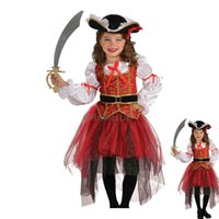 Wholesale Girl Suit Dance Costume - New Halloween children Girls' costumes Dress suit cosplay Dance dress