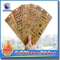 Wholesale Different Stamps - Hot Stamping Stickers Decoration Diary Stickers For Mobile Phone Decoration Small Phone Different Style Cute Accessory