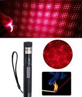 Hot Red Laser Pointer Pen Burn Match Power Light Star Pattern Filter + 18650 Batterie + Chargeur LIVRAISON GRATUITE
