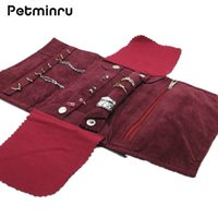 Wholesale Jewelry Organizer Hooks - Petminru Portable Jewelry Holder Storage Bracelet Earring Ring Necklace Pouch Organizer Travel make up Bag For Jewelry