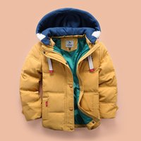 Wholesale Boys White Coat - winter jackets boys hooded down jacket Hot Sale New High Quality Children's Warm jackets Removable cap