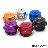 Wholesale Tansky Blow Off Valve - Tansky -- Universal Jdm 50mm V Band Blow Off Valve BOV Q Typer w  Weld On Aluminum Flange with logo TK-BOV50TI