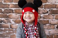 Wholesale Minnie Mouse Knitted - New Arrival Cute Baby Caps Handmade New Minnie Mouse Style Crochet Hat Crochet Hat Children Handmade Knitted Cpas Beanie Knitted Hat Caps