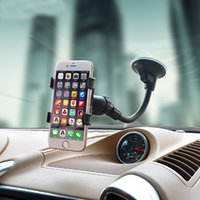 telefon çevirme standı toptan satış-Çift Klip 360 Dönen Araç Cam Dashboard Telefon Tutucu, iPhone Android Cep Telefonu için evrensel Esnek Araç Montaj Tutucu Standı