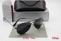 Wholesale Iridium Glasses - High Quality 2015 new Men's Women's Unisex Designer Sunglasses Iridium Gradient Lens Glasses 58mm size With Box Case