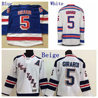 Wholesale Ranger Patches - Men's NY #5 Dan Girardi Jersey New York Rangers Hockey Jerseys Home Royal Blue Authentic Stadium Series Stitched Jersey A Patch