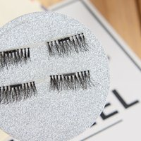 Wholesale Fasle Eyelashes - Top Quality Magnetic Eye Lashes 3D Makeup Reusable Fasle Eyelash Without Glue Use Factory Price EUB shipping