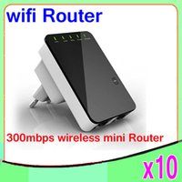 Wholesale High Quality Wireless Router - Wholesale - High Quality Black Portable 300Mbps Wireless-N Mini Router Internet Connection with WiFi Repeater Networking 10PCS YX-YF-01