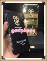 Wholesale Mirror Gold Iphone Housing - Hot fashion SKULL SKELETON real 24ct 24k gold for iphone 7 gold housing back panel 24K 24CT 24KT Mirror GOLD Golden co design housing