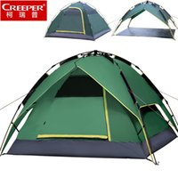Wholesale Top Quality Person Tent - Wholesale-CREEPER Top Brand Quality double layer 3-4 person rainproof outdoor camping tent for hiking fishing hunting adventure picnic 364