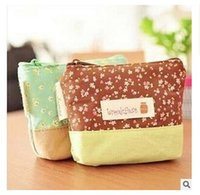 Wholesale Ladies Coin Purses Cloth - Fresh Coin Purse Lovely Kawaii Cloth Women handbags Girls Floral Candy Wallet Multicolor Purse Kid Christmas Gift Free Shipping R1593