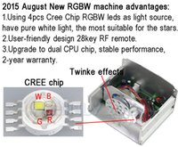 Wholesale Optic Driver - Wholesale-CREE chip 10W RGBW LED twinkle Fiber Optic Engine Driver with 28key RF Remote controller for all kinds fiber optics
